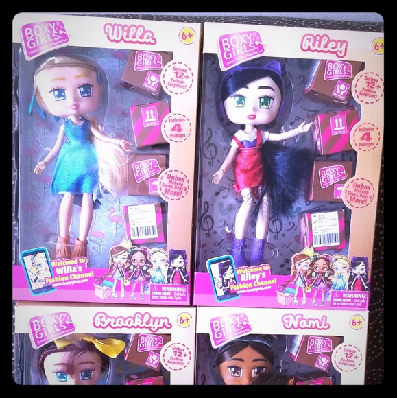 """Surprises 2018 BOXY Girls Nomi Fashion Doll 8/"""" Girl Doll with 4 packages//12"""